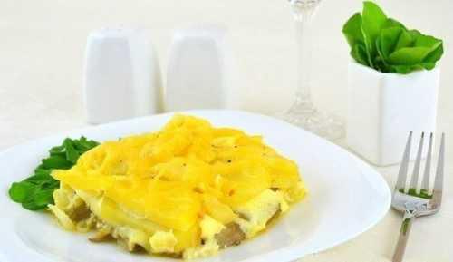 запеканка из тертого картофеля